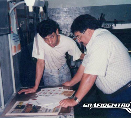 Esta foto mas actual de los años 90, donde el control de los trabajos era realizado por el mismo dueño Don Arguello. el maquinista Antonio Villagra que hasta hoy dia esta con nosotros trabajando